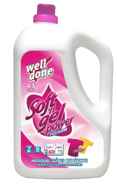 Well Done - Finel prací gel color 4.5L