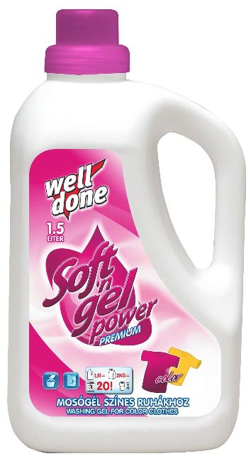 Well Done - Finel prací gel color 1.5L
